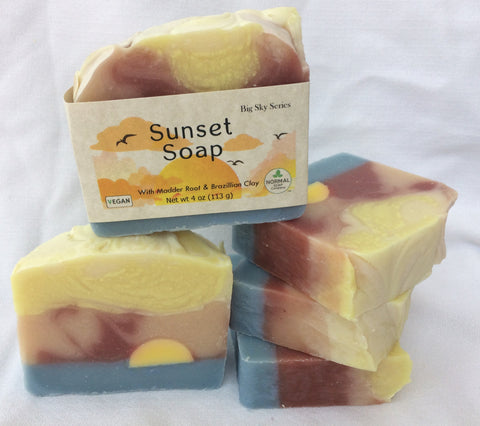 Big Sky Series - Sunset Handmade Soap
