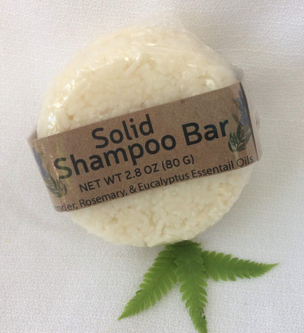 Solid Shampoo Bar with 100% biodegradable packaging