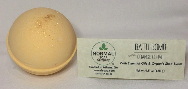Orange Clove Bath Bomb with Organic Shea Butter and Essential Oils