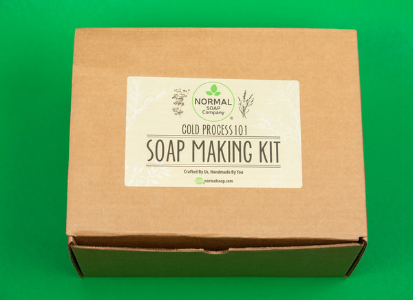 Cold Process Soap Making Kit with Essential Oil and Botanical Topping