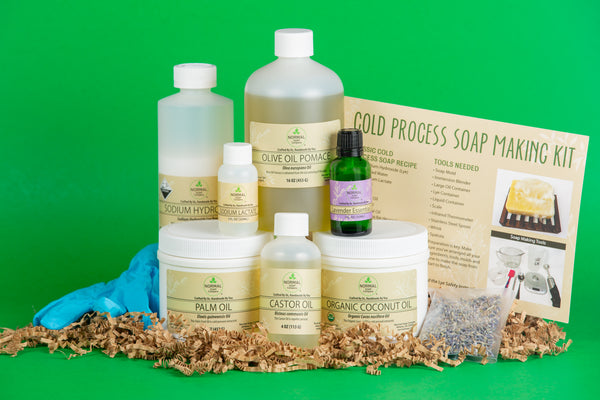 Soap Kit comes with all the ingredients that you need to make cold process soap from scratch. Scented with Essential Oil.