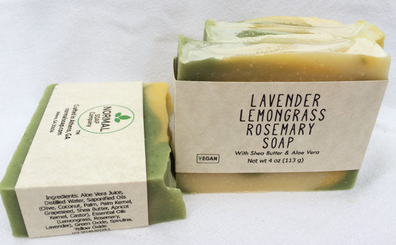 Lavender Lemongrass Rosemary Handmade Soap