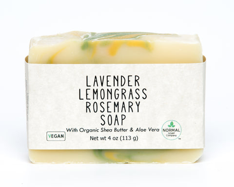 Lavender Lemongrass Rosemary Handmade Soap with Organic Aloe Vera and Organic Shea Butter