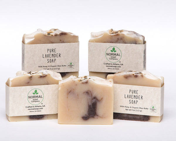 Pure Lavender Handcrafted Soap with Essential Oils and Organic Shea Butter and Organic Coconut Oil