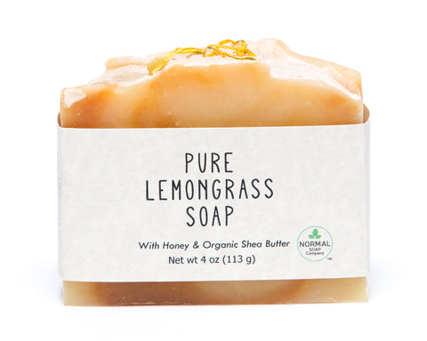 Pure Lemongrass Soap featuring Organic Shea Butter and Honey
