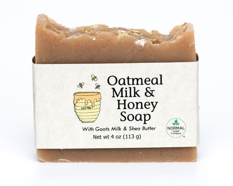 Oatmeal Milk and Honey Handmade Soap with Goat's Milk and Organic Shea Butter