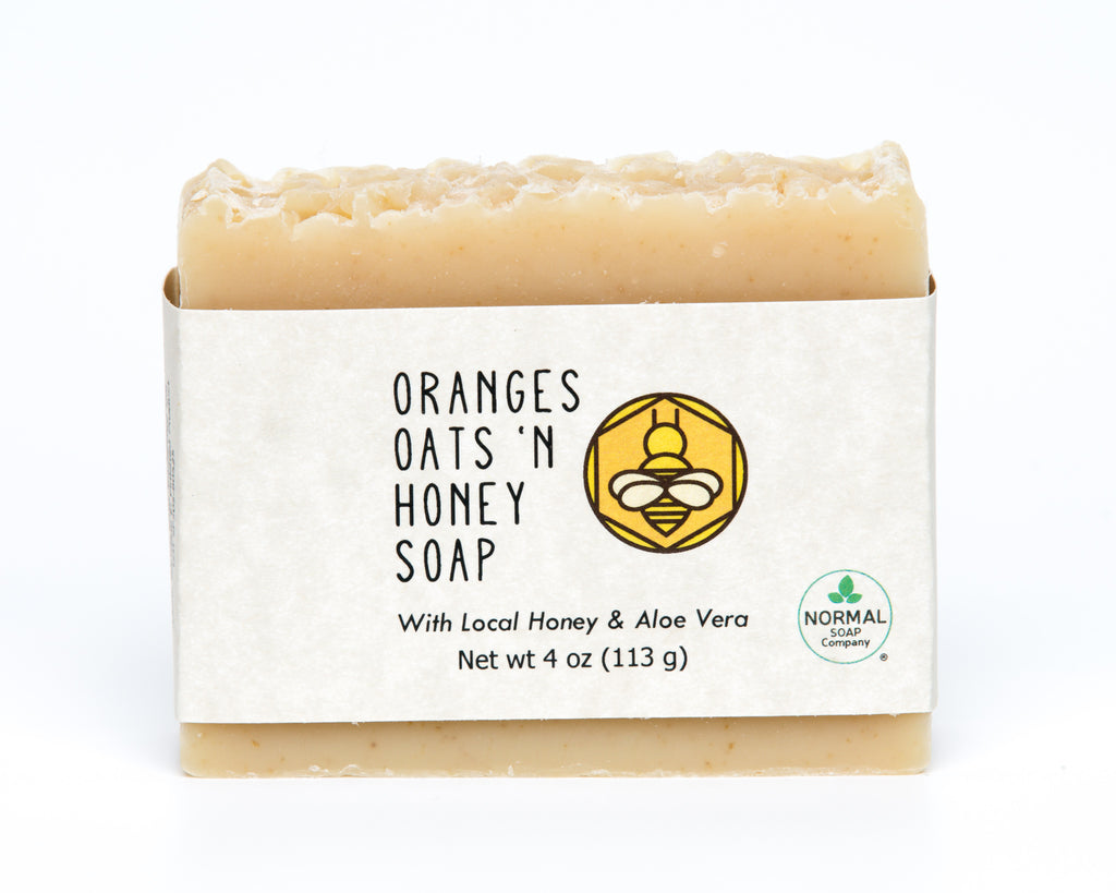 Oranges Oats 'N Honey Handmade Soap with Cocoa Butter and Avocado Oil