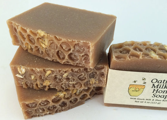 Oatmeal Milk and Honey Handmade Soap with Goat's Milk and Shea Butter