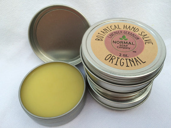 Botanical Hand Salve featuring Organic Botanicals infused in