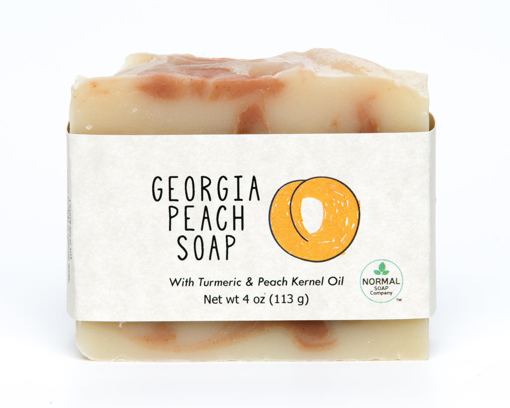 Georgia Peach Soap featuring Turmeric and Peach Kernel Oil