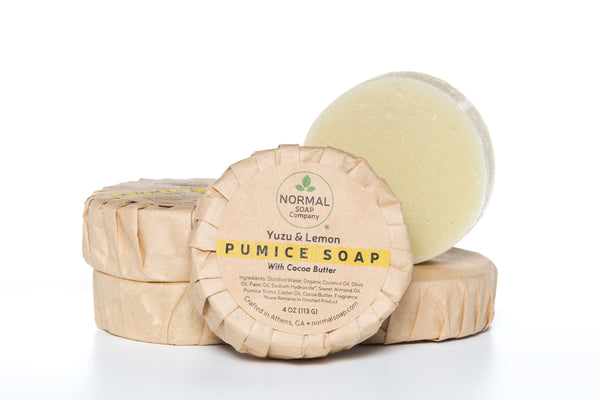 Pumice Soap featuring scrubby pumice and Organic Cocoa butter with essential oils