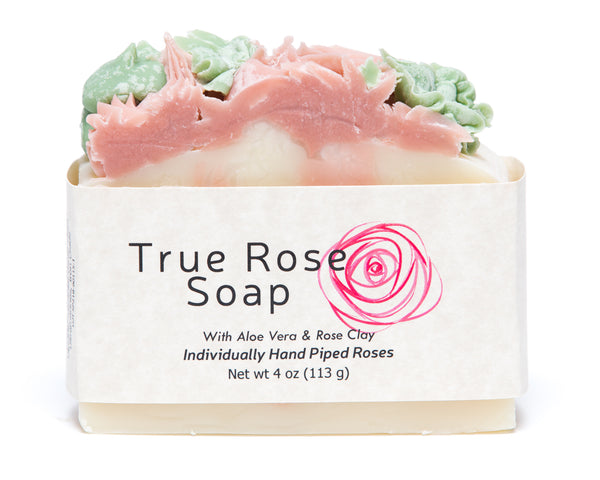 True Rose Handcrafted Soap features individually hand-piped roses