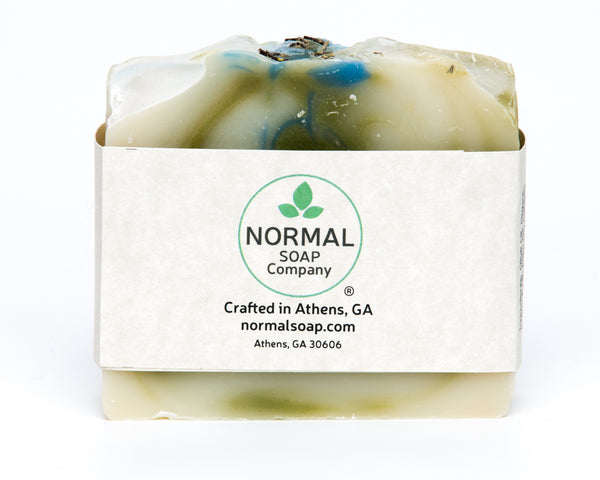 Rosemary, Mint, Patchouli Handmade Soap with Aloe Vera and Rice Bran Oil