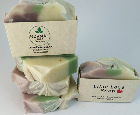 Lilac Love Handmade Soap with Aloe Vera and Shea Butter