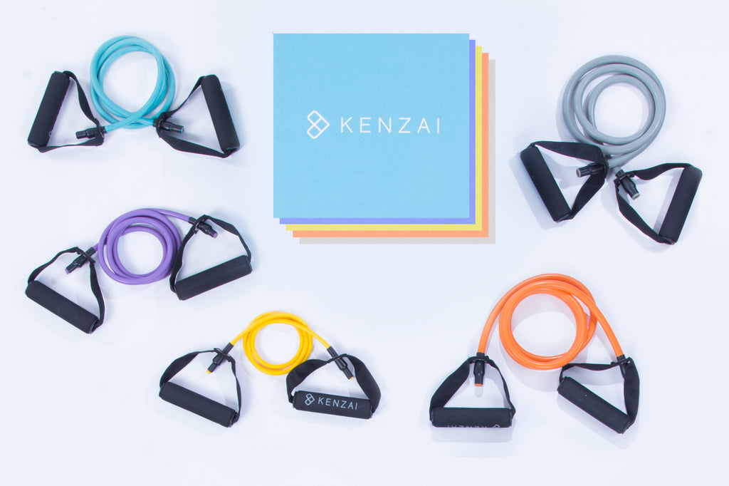 Kenzai Resistance Bands Full Set with Door Anchor (All Five Resistances)