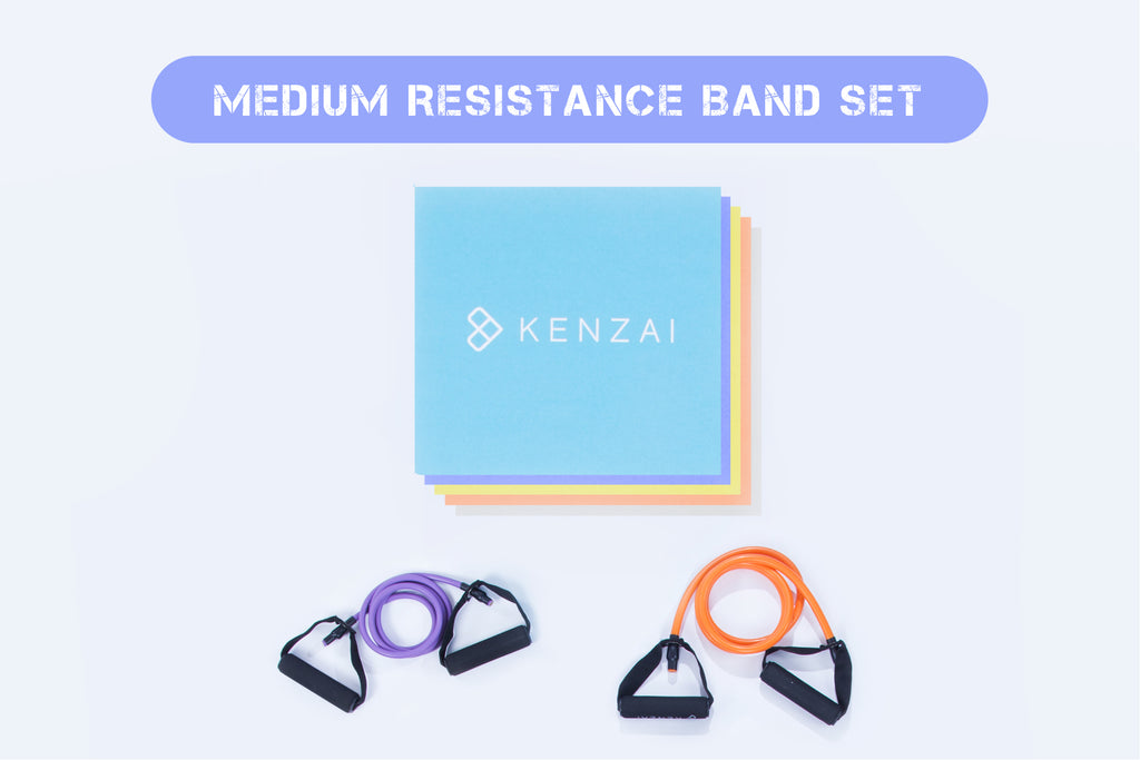 Medium Resistance Band Set (Light and Heavy Bands)