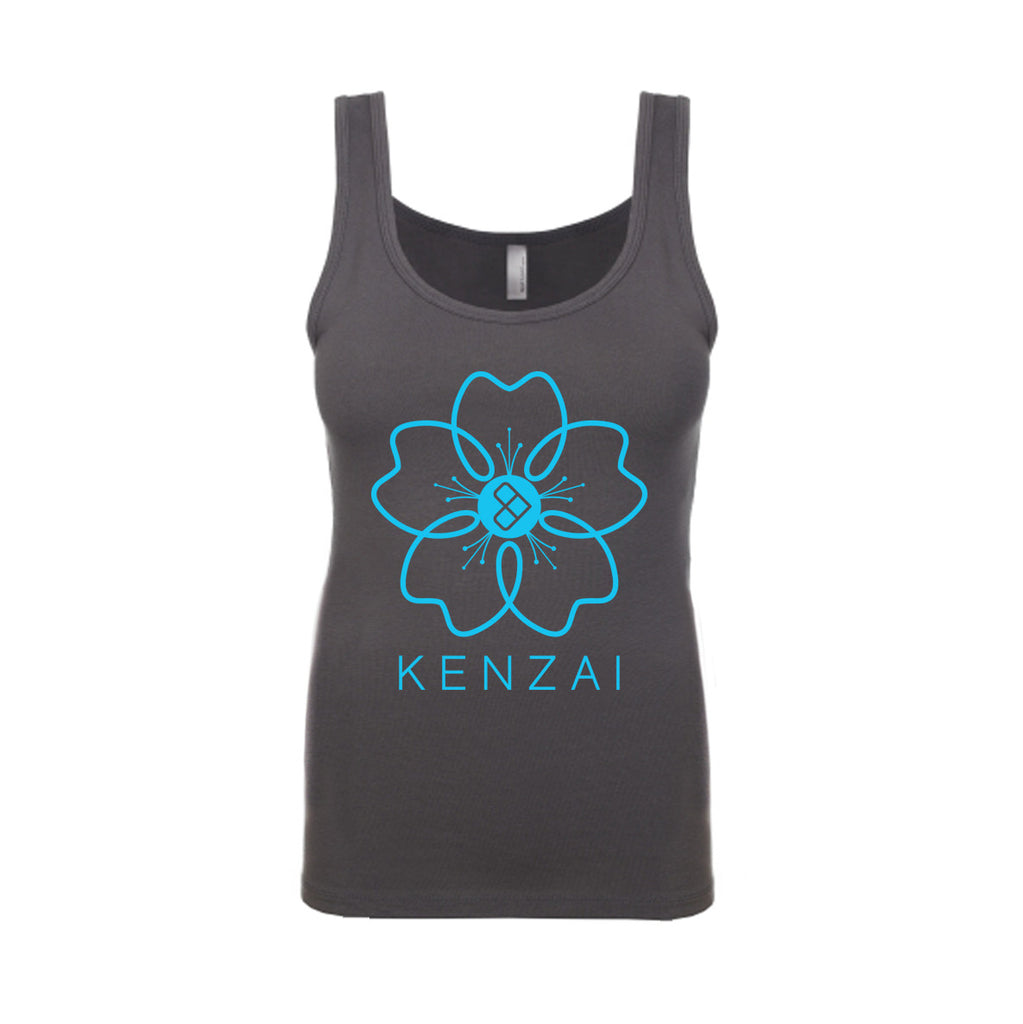 Women's Kenzai Sakura Tank in Dark Grey