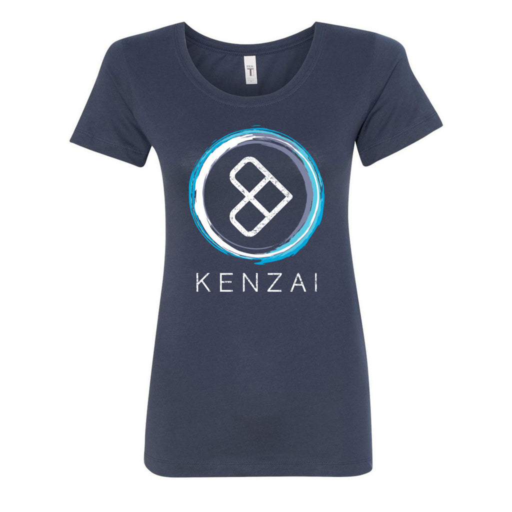 Women's Kenzai Circle Logo Shirt in Indigo