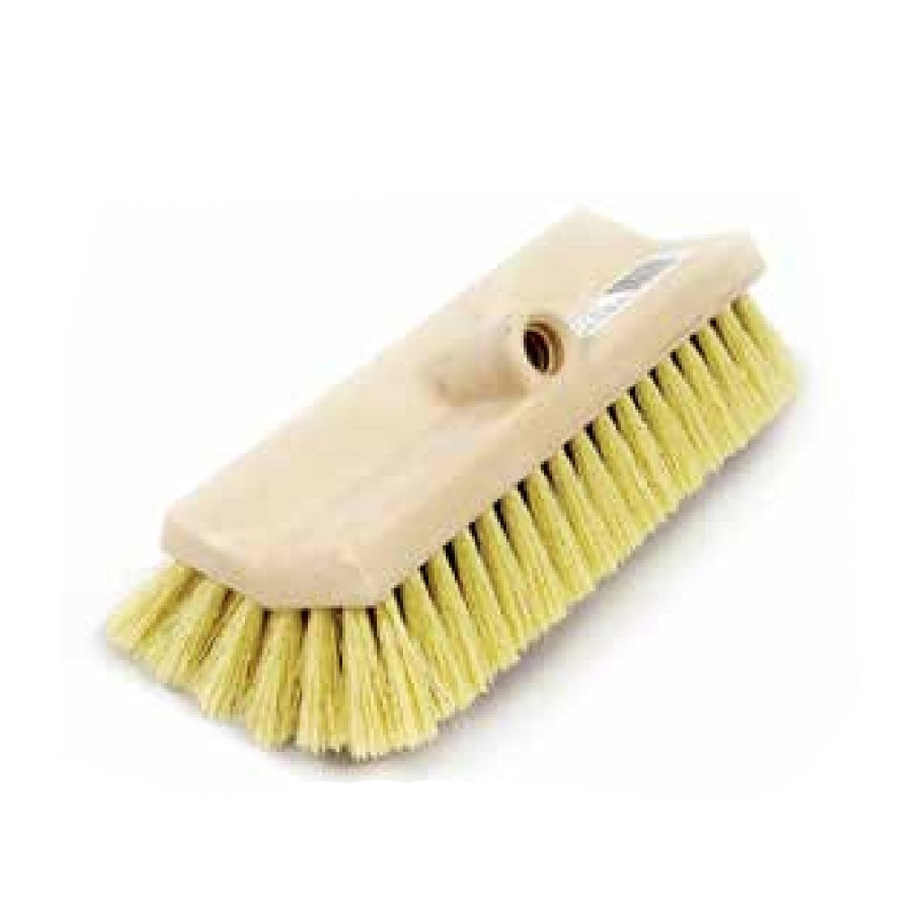"Deck Wash Angled Scrub Brush 10"" Length Stiff Aggressive Bristle"