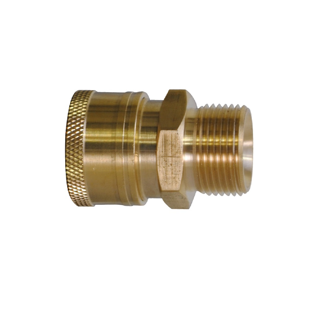 "Quick Connect Coupler (3/8"") x M22 Male Plug (14mm core)"
