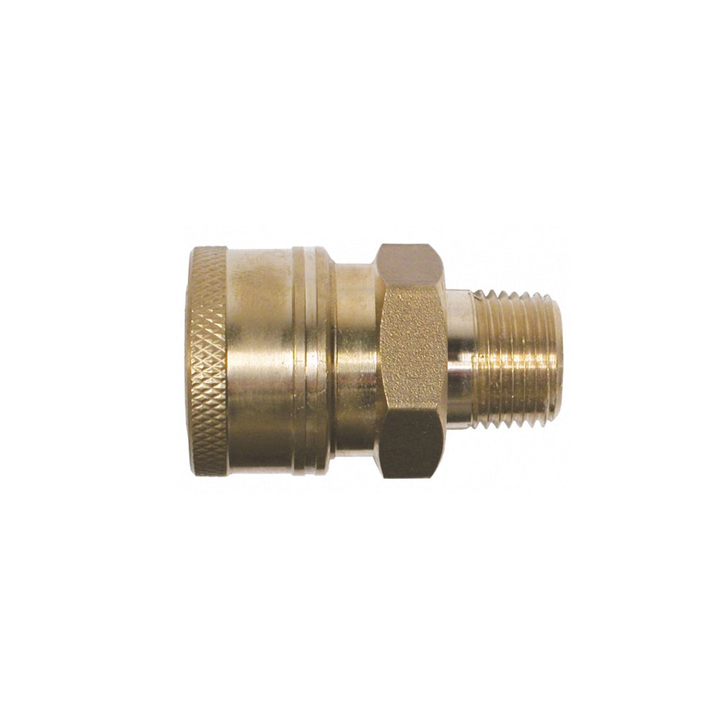 "Quick Connect Coupler (Female Socket) x 1/4"" MPT Thread"