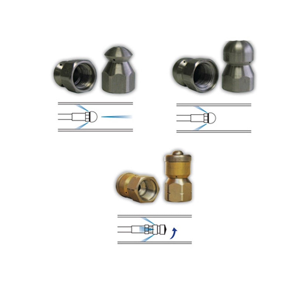 Sewer Jetting Nozzle Kit - 4000psi