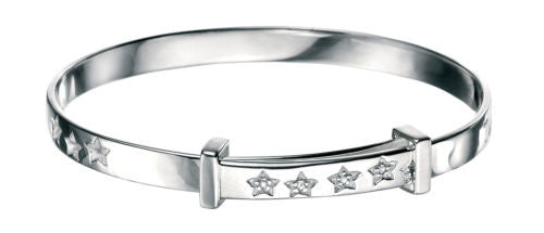D for Diamond Twinkle, Twinkle Baby Expanding Bangle - B4322