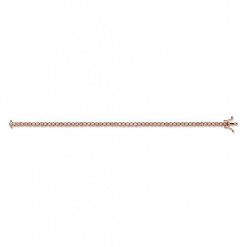 18ct Rose Gold 2.00ct Diamond Tennis Bracelet