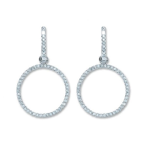 18ct White Gold 0.55ct Diamond Drop Earrings