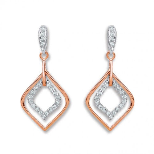 18ct Rose Gold 0.30ct Diamond Drop Earrings