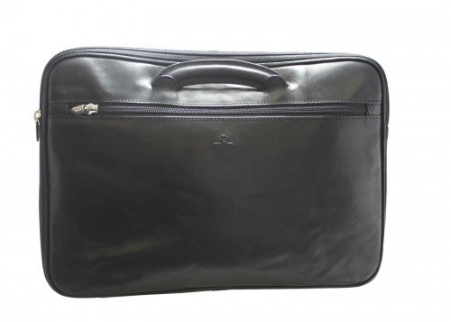 Tony Perotti Italian leather document wallet with handles - TP-8090G/BLK - Black