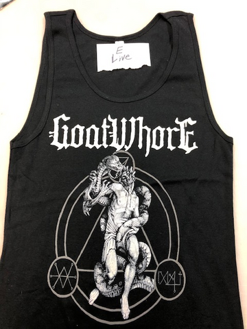 GOATWHORE LADIES E TANK TOP- XL-ONLY