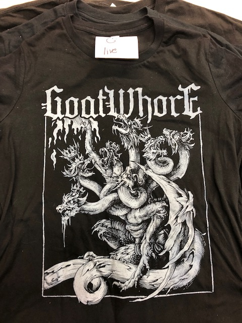 GOATWHORE LADIES SHIRT C -XL ONLY