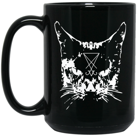 "Cat ""Lucy"" 15 oz. Black Mug"