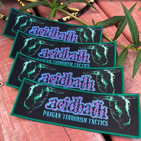 Official Acid Bath PTT 25 year Annersary Rectangle Patch