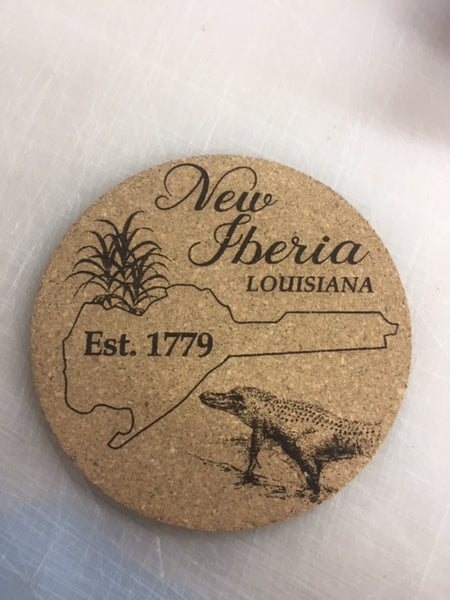Personalized Round Cork Coaster Set of 4