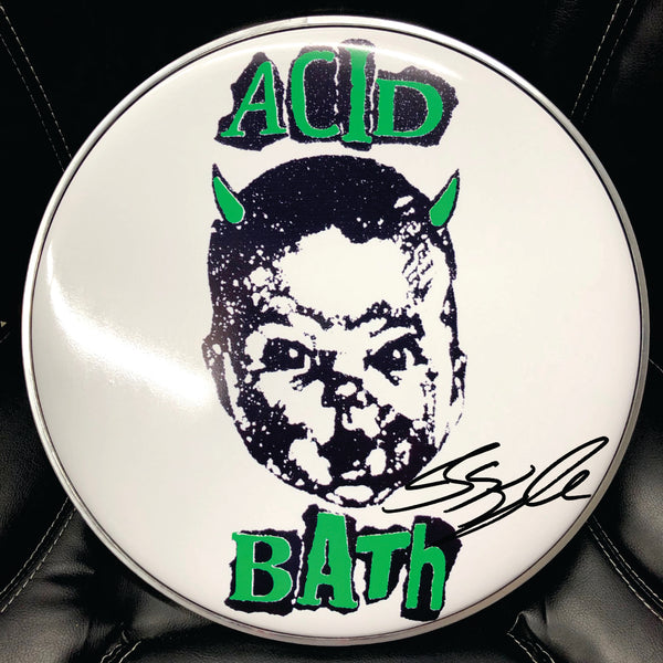 "Acid Bath 14"" drum head Signed"