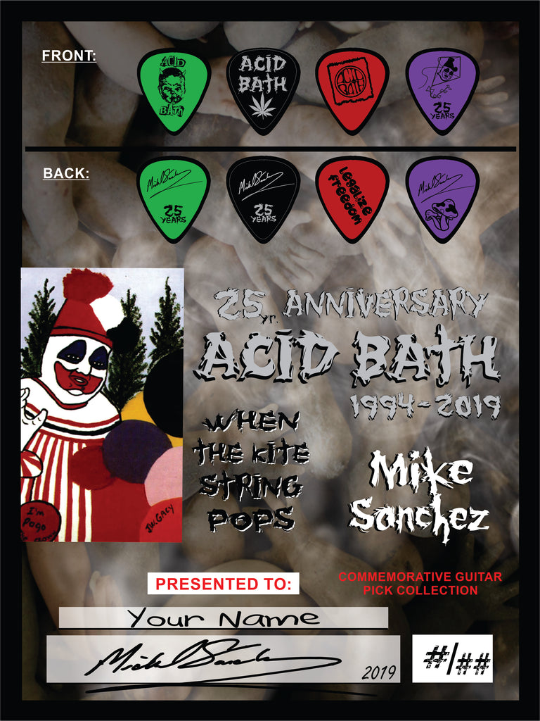 Acid Bath - Mike Sanchez Guitar Pick set