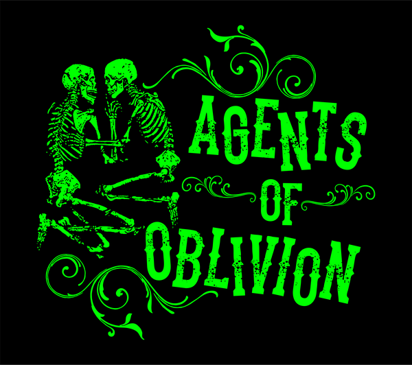 Agents of Oblivion- Green Skeltons shirt