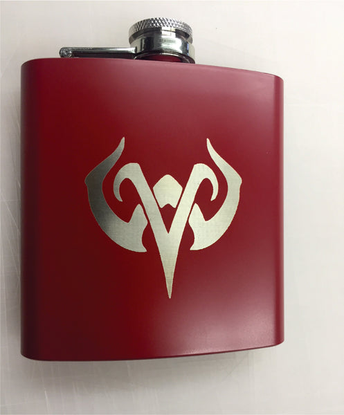 Custom Stainless Steel Laser Engraved Flask.