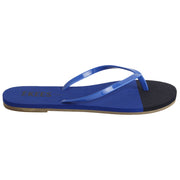 Waterproof Blue Lagoon Flip Flops with Rubber Upper, EVA Foam Insole, Rubber Outsole