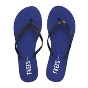 Waterproof Flip Flops with Black Rubber Upper, Navy EVA Foam Insole, Lime Green Rubber Outsole