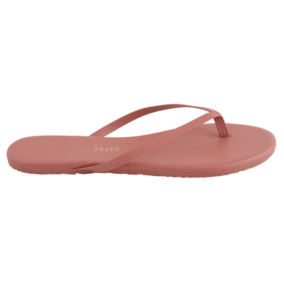 Pink Leather Flip Flops with Leather Upper, Leather Insole, Rubber Outsole