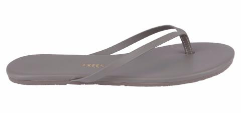 Grey Leather Flip Flops with Leather Upper, Leather Insole, Rubber Outsole