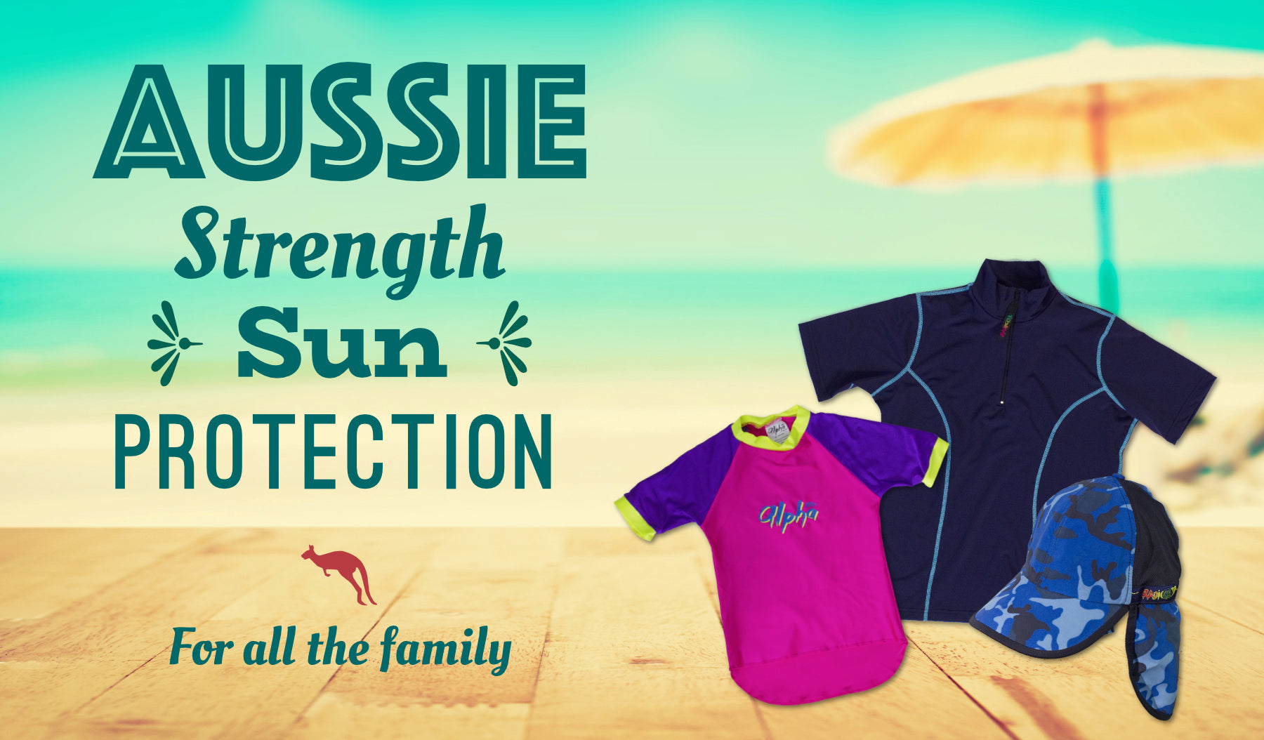 Aussie strength sun protection radicool uv beachwear