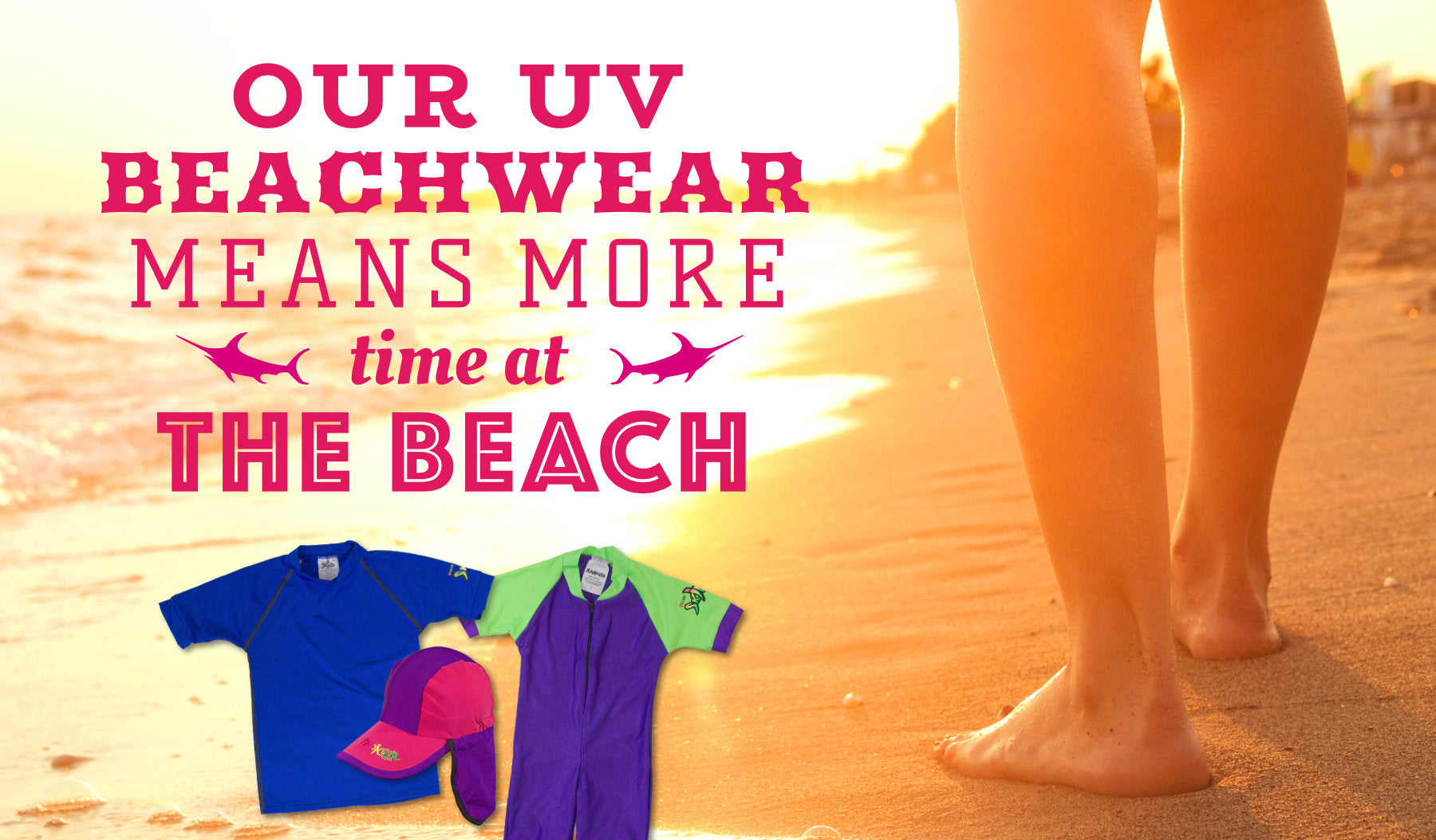 more time at the beach with radicool uv beachwear