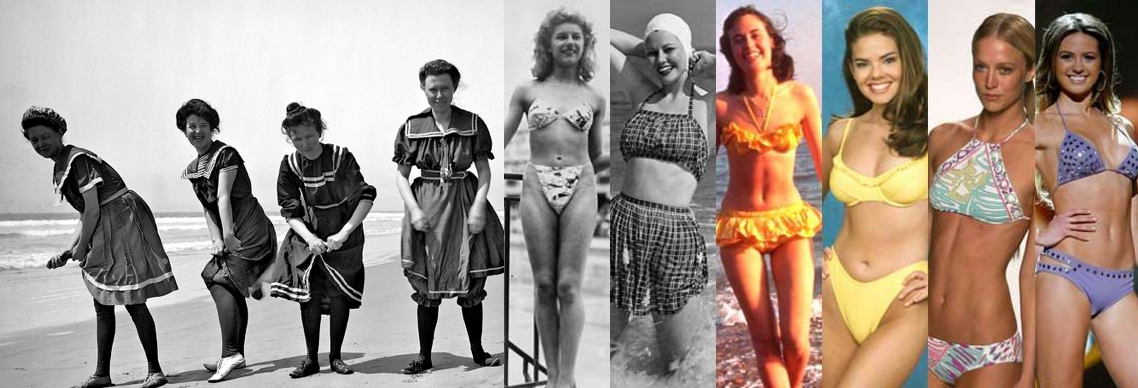 UV swimwear evolution 1900-2017