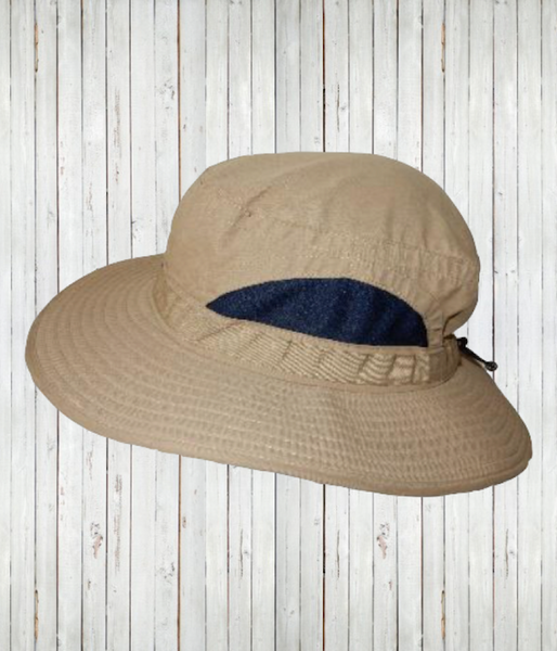 Adult broad brimmed hat khaki radicool sun protective clothing