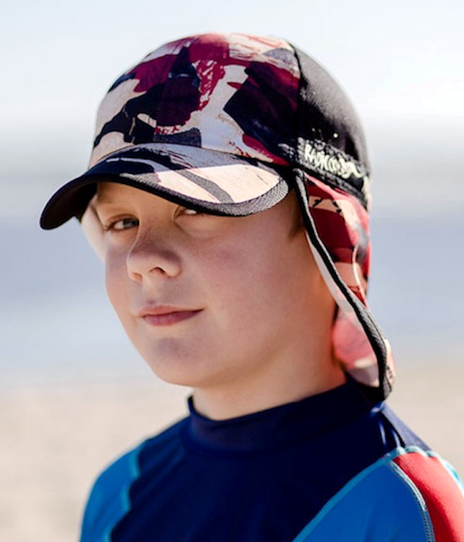 "New - Kids' ""Flaps Up"" Legionnaire Hats - Radicool UV Beachwear"