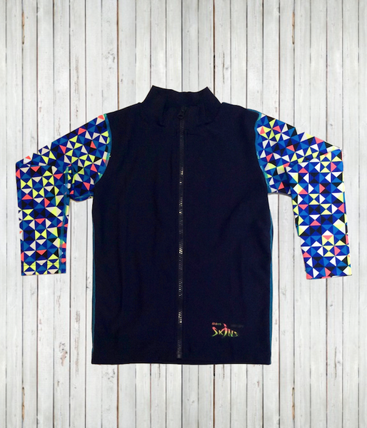 New - Kids' Long Sleeve Zip Top Shirts
